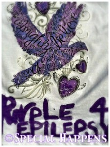 Purple for Autism - Homemade T-Shirt