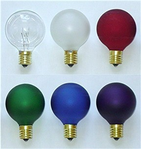 Rainbow of Lightbulbs