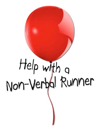 Help with a non-verbal runner