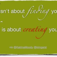Create Yourself – Friday Finish Quote