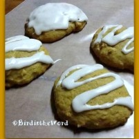 Iced Pumpkin Walnut Cookies