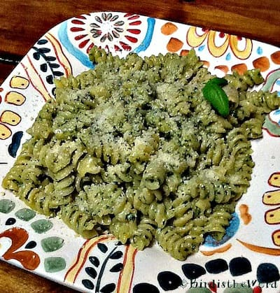 A Plate of Basil Pesto