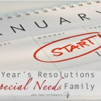 Making New Years Resolutions in a Family with Special Needs