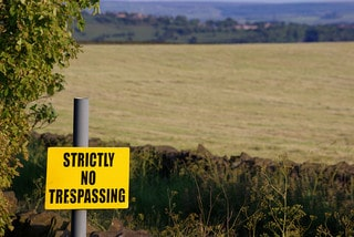 Strictly No Trespassing Sign