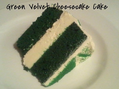 Green Velvet Cheesecake Cake | St. Patrick's Day Celebrations |