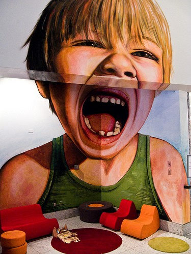 Child Screaming in Playroom