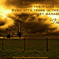 Strong People: A Quote (seemingly) About Special Needs Family (Friday Finish Inspiration)