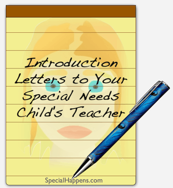 Introduction Letters to Your Special Needs Child's Teacher