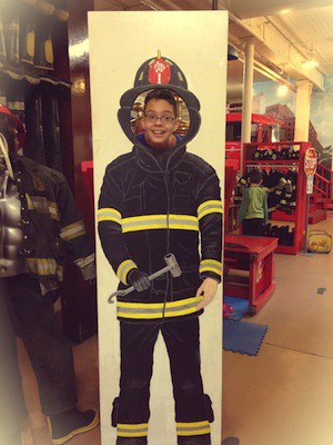 Firefighter cut out