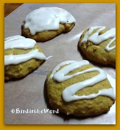 Iced Pumpkin Walnut Cookies by Meredith Myers